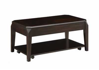 Walnut Transitional Walnut Lift-Top Coffee Table