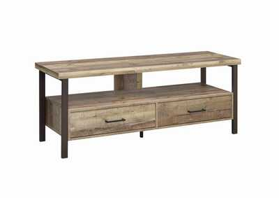 "Image for Weathered Pine Rustic Weathered Pine 60"" TV Console"