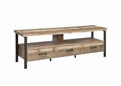 "Weathered Pine Rustic Weathered Pine 71"" TV Console"