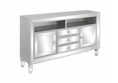 "Silver Contemporary Metallic Platinum 60"" TV Console"