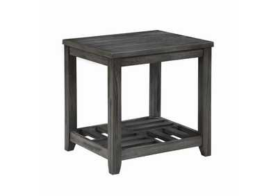 Emperor Rustic Grey Side Table