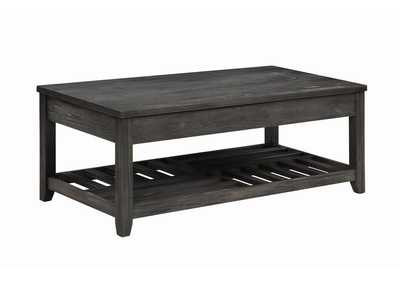 Image for Fuscous Gray Rustic Grey Lift-Top Coffee Table