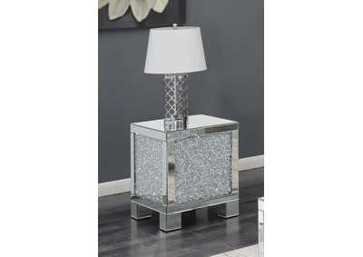 Silver Contemporary Silver Side Table,Coaster Furniture