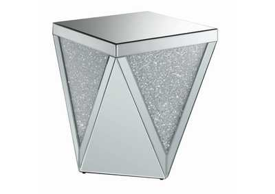 Silver Contemporary Silver Side Table