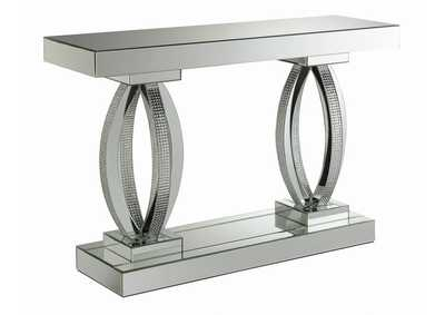 Silver Contemporary Silver Sofa Table
