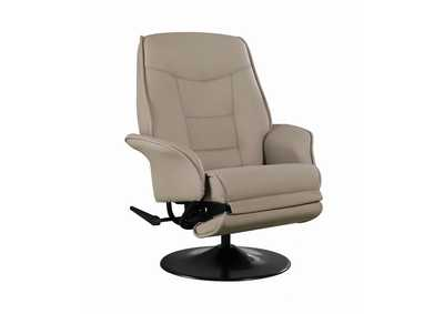Zorba Berri Contemporary Beige Swivel Recliner