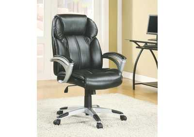Image for Mine Shaft Transitional Black Office Chair