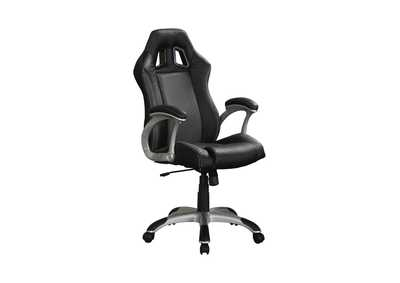 Image for Silver Contemporary Black and Grey Office Chair