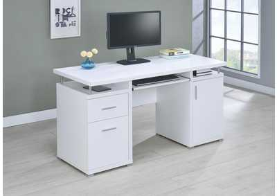 White Contemporary Computer Desk