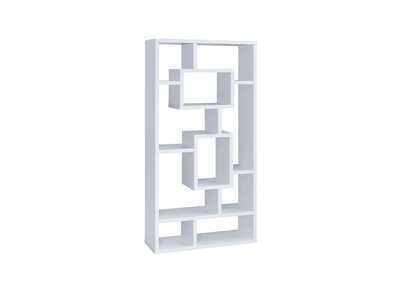 White Geometric Cube White Bookcase