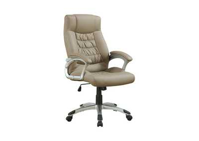 Silver Transitional Taupe Office Chair
