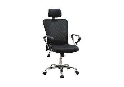 Tuna Casual Black Office Chair W/ Headrest