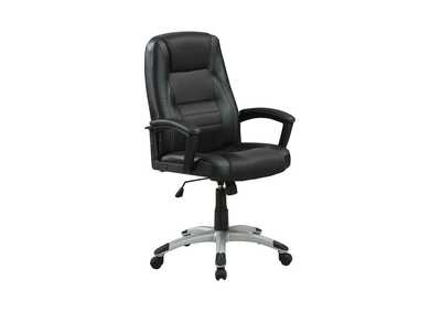 Silver Casual Black Office Chair