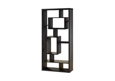 Image for Black Oak Transitional Black Oak Bookcase