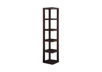 Cocoa Brown Transitional Cappuccino Bookcase