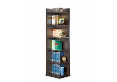 Image for Cappuccino Transitional Cappuccino Corner Bookcase