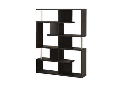 Black Transitional Black Bookcase