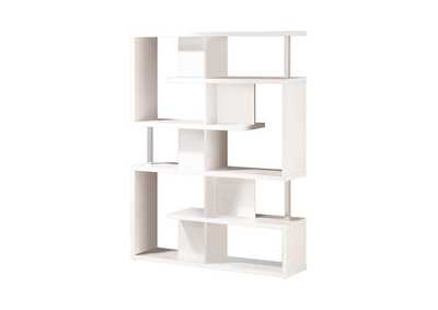 White Transitional White Bookcase