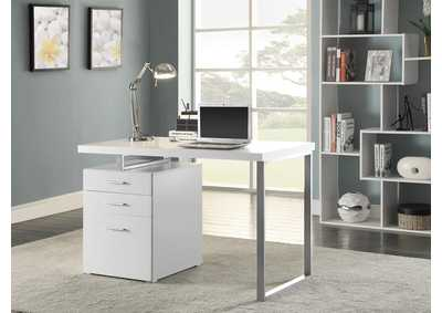 White Contemporary Writing Desk