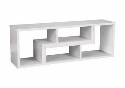 Image for White Contemporary White Convertible TV Stand and Bookcase
