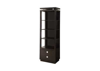Image for Contemporary Cappuccino Bookcase