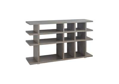 Image for Weathered Grey Contemporary Weathered Grey Bookcase