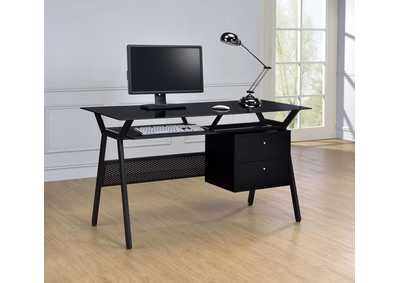 Black Casual Black Computer Desk
