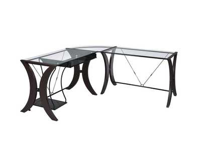 Cappuccino Contemporary Cappuccino Desk Set