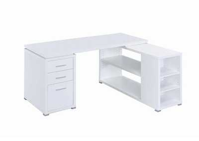 White Yvette White Executive Desk