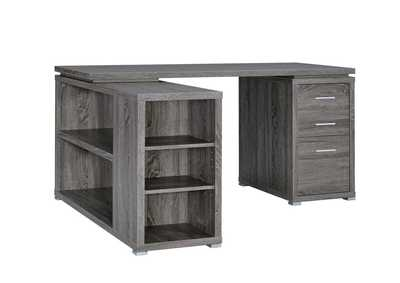 Weathered Grey Yvette Weathered Grey Executive Desk