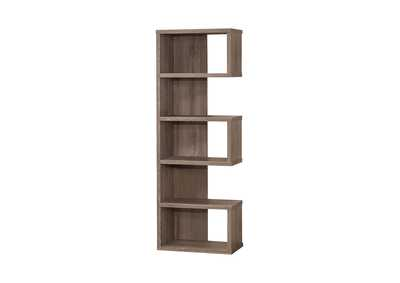 Weathered Grey Contemporary Weathered Grey Bookcase