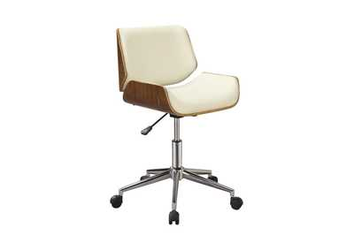 Walnut Modern Ecru Office Chair