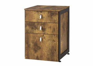 Antique Nutmeg Estrella Industrial File Cabinet