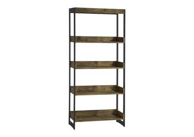 Antique Nutmeg Estrella Industrial Antique Nutmeg Bookcase