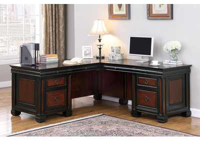Coffee Bean Tate Traditional Espresso Executive Desk