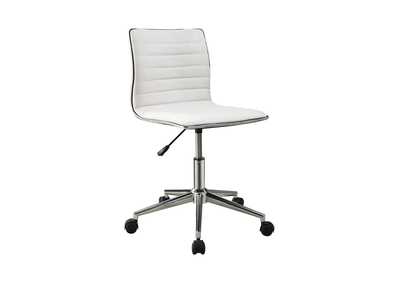 Alto Modern White and Chrome Home Office Chair