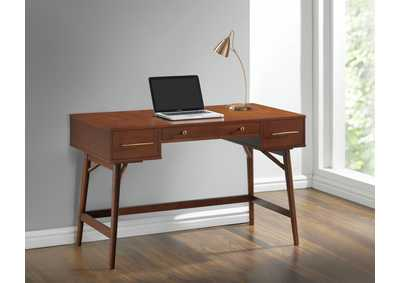 Irish Coffee Transitional Walnut Writing Desk