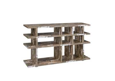 Salvaged Cabin Rustic Salvaged Cabin Low-Profile Bookcase
