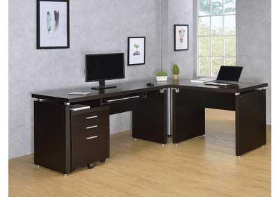 Image for Cappuccino Skylar Contemporary Computer Desk