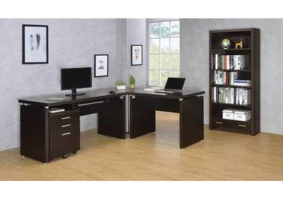 Image for Cappuccino Skylar Contemporary Desk