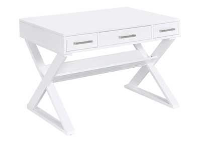 Whisper Casual White Writing Desk