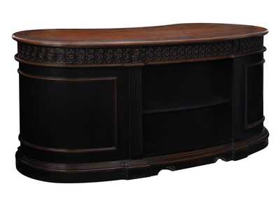 Image for Cod Gray Rowan Traditional Black and Espresso Desk