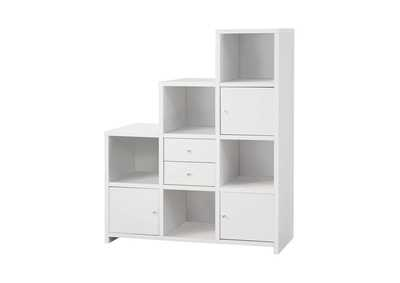 White Contemporary White Bookcase