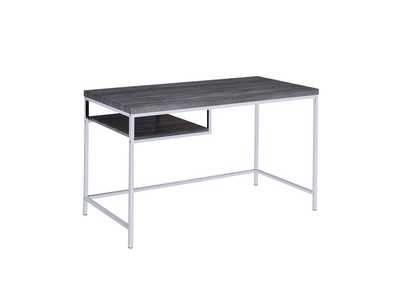 Weathered Grey Contemporary Weathered Grey Writing Desk