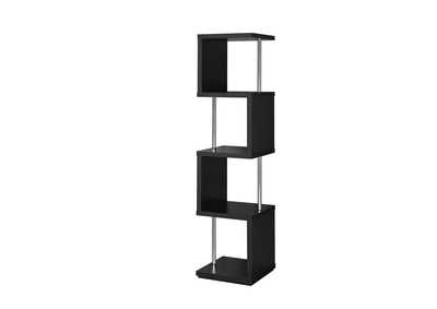Image for Black Modern Black Four-Tier Bookcase