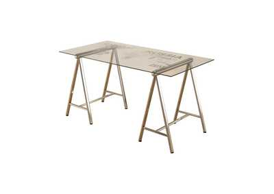 Sisal Contemporary Nickel Writing Desk