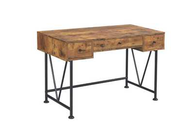 Antique Nutmeg Barritt Industrial Antique Nutmeg Writing Desk