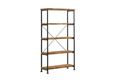 Antique Nutmeg Barritt Industrial Antique Nutmeg Bookcase