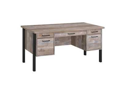 Weathered Oak Samson Rustic Weathered Oak Office Desk