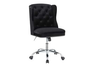 Cod Gray Modern Black Velvet Office Chair